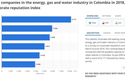 4 DE LAS 7 COMPAÑÍAS DE ENERGÍA, AGUA Y GAS LÍDERES EN REPUTACIÓN CORPORATIVA DE COLOMBIA UTILIZAN LAS SOLUCIONES DE PRIMESTONE
